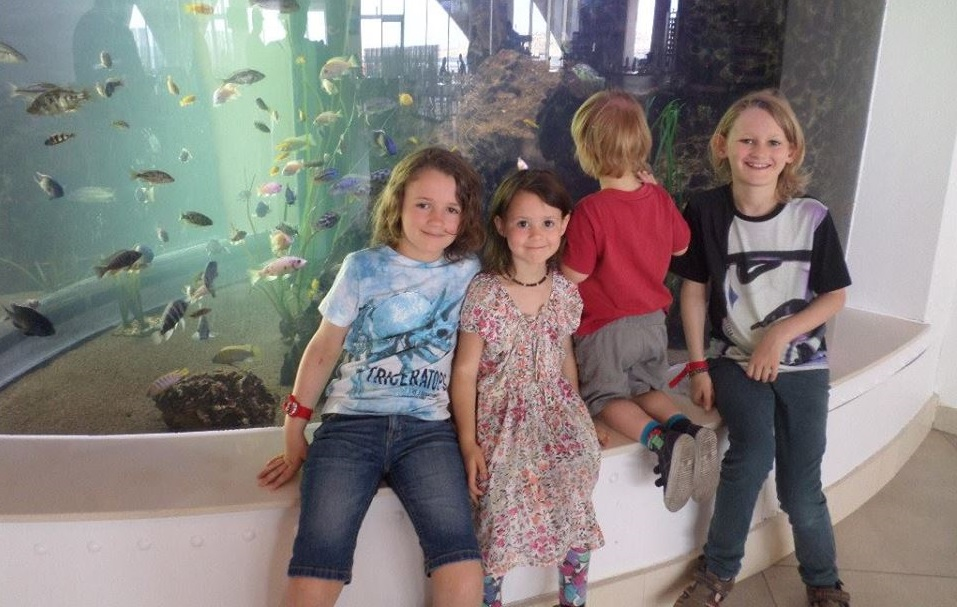 Large Family Travel - Our Favourite photo of the children at Malta National Aquarium