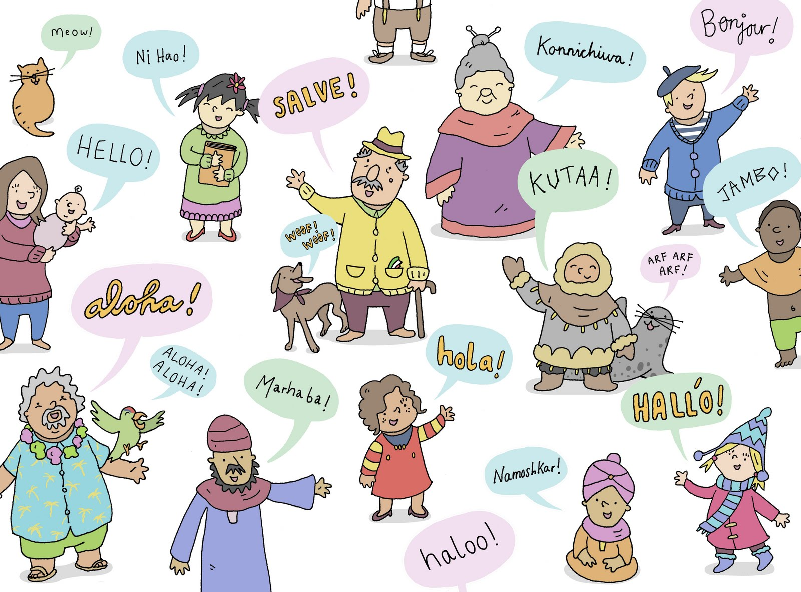 how to say hello in different languages image