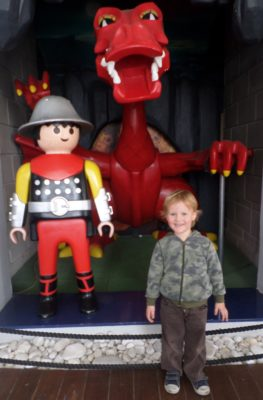 George and the PlayMobil Dragon