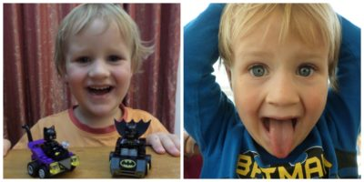 George still loves Batman Lego!