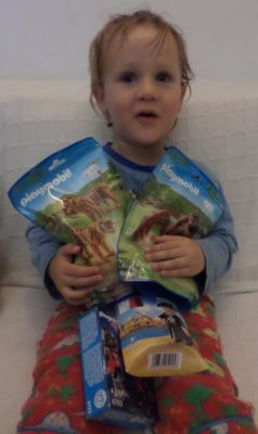 George and PlayMobil Birthday Gifts