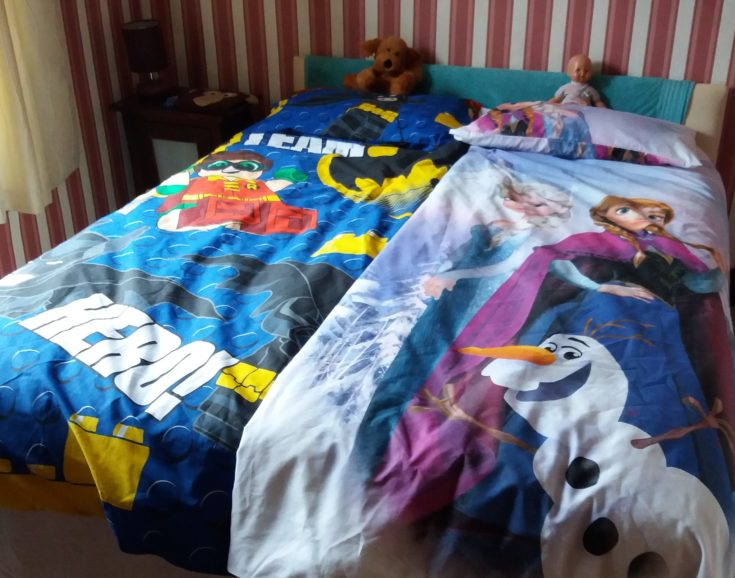 Personal duvet covers help the children feel at home.