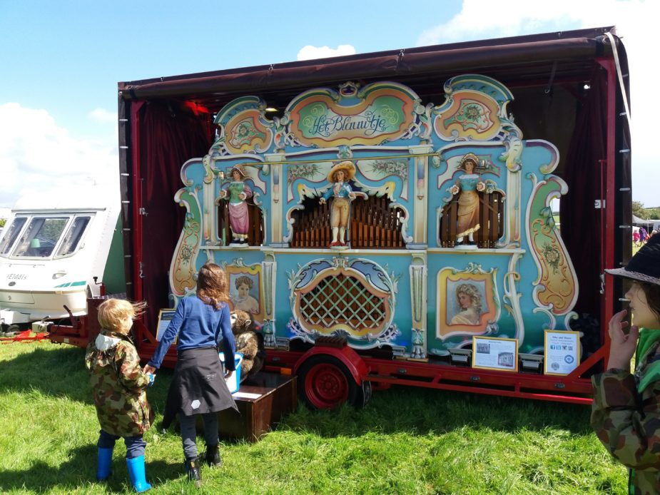 Organ front at Cornish Steam and Country Fair St Stithians