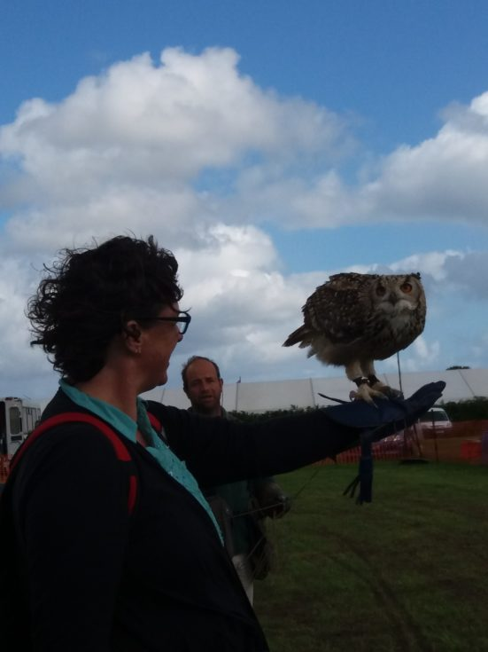 Sam with Bengal Eagle Owl at Cornish Steam and Country Fair St Stithians