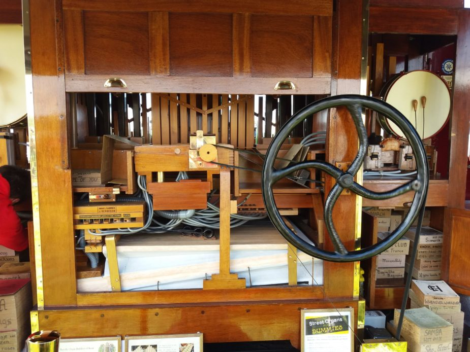Organ workings at Cornish Steam and Country Fair St Stithians