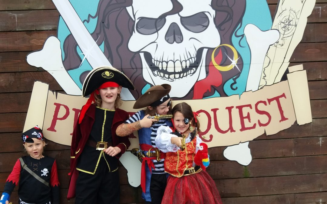 Dressing up as Pirates in Cornwall is so much fun!