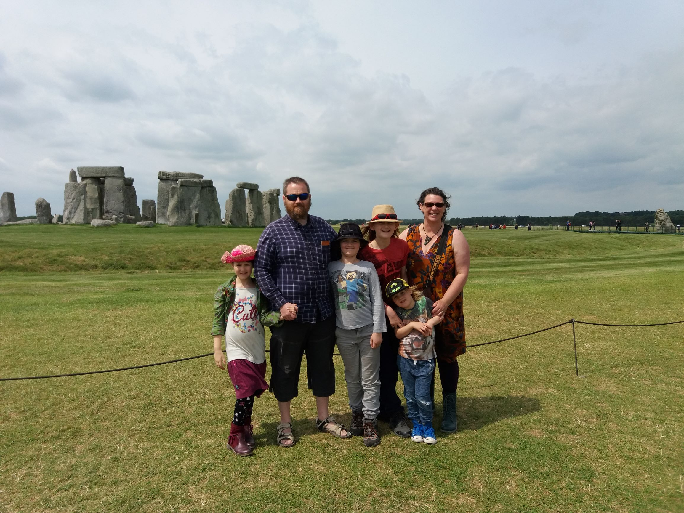 sullivan family photo at stonehenge